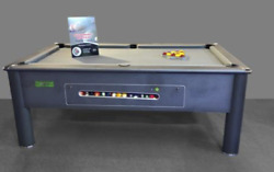 6ft/7ft Supreme Match Electronic Slate Bed Pool Table Storm Grey Finish