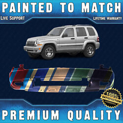 New Painted To Match Front Bumper Cover Fascia For 2005-2007 Jeep Liberty W/ Fog