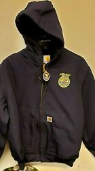 101208-403 Made In America Ffa Logo Quilted Duck Active Jacket 2xl