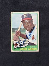 Hank Aaron Signed Autographed 1965 Topps Card 170 - Vintage Signature