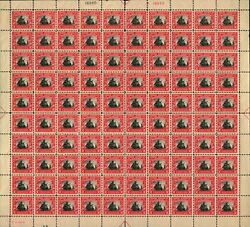 Us 620 2c Norse-american Issue Sheet Of 100 F-vf Bcv 1050 As Singles