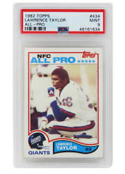 Lawrence Taylor New York Giants 1982 Topps 434 Rc Rookie Card -psa 9 Mint E