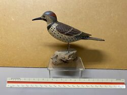 Miniature Flicker Decoy By J. Lapham Of Dennis Port Ma, Signed And Dated