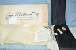 Nos 1957-58 Ford All Edsel Pacer Electron Convertible Top And Window Curtain Vtg