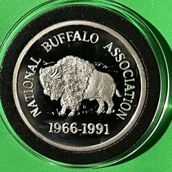 National Buffalo Association Proof Coin 1 Troy Oz .999 Fine Silver Round Medal