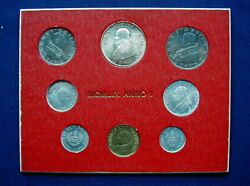 1959 Vatican Giovanni Xxiii Super Rare Set Coins With Silver In Official Red Box