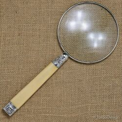 Large Magnifying Glass With A Sterling Silver Rim And Silver Mounts Sheffield 1899