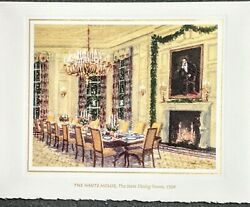 1998 Signed Bill And Hillary Clinton White House Christmas Card