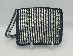 Hand Made Upcycled Pop Soda Aluminum Can Tabs Tops Crocheted Purse