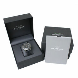 Glycine Airman The Chief Automatic Date Gl0252 Ss Black With Box And Warranty