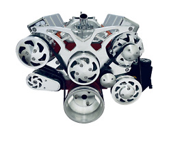 Sbc Serpentine Pulley Conversion Kit Small Block Chevy Alt Ps A/c 350 Triangles