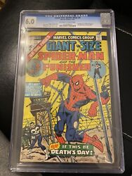 Giant Size Spiderman 4 CGC 6.0 Graded Key
