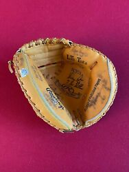 Nolan Ryan Autographed Mlb 7-no Hitters Glove W/ Catchers Rare Vintage