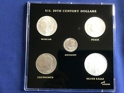 1884-2007 Us 20th Century Dollars 5 Coins Brilliant Uncirculated 3 Silver B7862