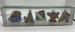 Dept 56 15th Anniversary Santa Christmas Ornaments Retired Collection 2005nib