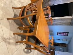 Ethan Allen Legacy Collection Country French Dining Room Table And Chairs