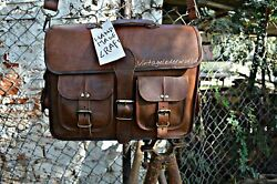 Bag Real Leather Messenger Shoulder Men Mens Laptop Satchel Handbag S Brown New $33.24