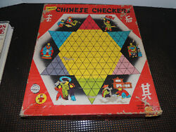 Chinese Checkers Vintage Board Game 1955 Transogram Games Complete Marbles