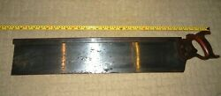 Antique Stanley Sw Sweetheart Mitre Box Saw Backsaw 27 Blade Made By Simonds
