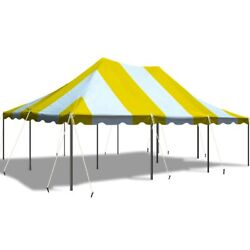 Yellow White 20x30and039 Premium Pole Tent Party Canopy Commercial Waterproof Vinyl