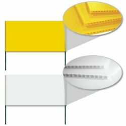 2and039x4and039 4mm Corrugated Plastic Blank Yard Signs - Free Shipping