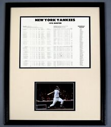 Thurman Munson Signed Auto Autograph 1978 Yankees Schedule Psa/dna Last Ws Year