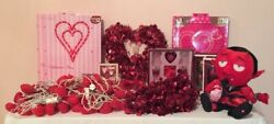 Vintage Lot Valentines Day Décor Lights Wall Displays Plush Ornaments Gifts More