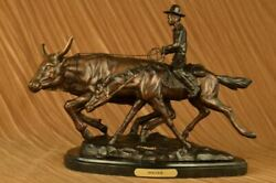 Bolter By Charles Russell Western Art Old West Farmer Bronze Sculpture Figure