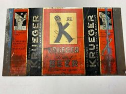 Krueger Beer Can Oi Unrolled Flat Top Opening Instruction Rare Can