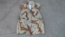 Us Military Desert Storm 1990 Dated Cover Pasgt Vest Chocolate Chip Camouflage