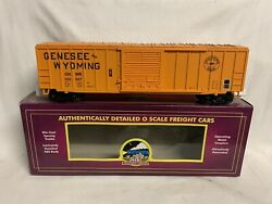 ✅mth Premier Genesee And Wyoming 50' Box Car 20-93505 O Scale Train
