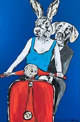 Gillie And Marc They Were Friends Mixed Media On Canvas Painting 122cm X 82cm