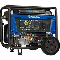 Westinghouse Wgen7500df Dual Fuel Portable Generator 7500 Rated And 9500...