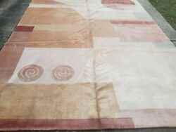 8andrsquo X 10and039 Contemporary Hand Knotted Rug From Nepal 100 Natural Wool