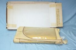 1949 Chevy Pontiac Oldsmobile Convertible Top Curtain Vintage Tan Deluxe Cloth