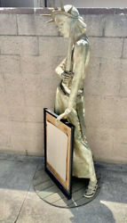 6ft Vintage 1960and039s State Of Liberty Art Piece Store Entry Sign Display Rare