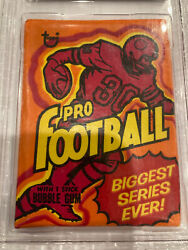 1973 Topps Football Wax Pack Gai 8 Rb Edition A Psa 9 Just Sold For 735