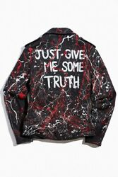 Schott Hand Painted Truth Moto Leather Jacket 626vn Per21 Large