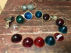 1920and039s 30and039s Tail Light Assortment 15 Glass Ruby Red Blue Green Clear Chevy Ford