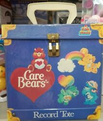 Vintage 1984 Care Bears Record Tote/box To Hold Small Records Lunch Box Ect.