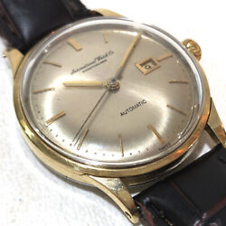 Schaffhausen Auto Cal.8531 Ss Gold Plated Date Antique Watch Used Vintage