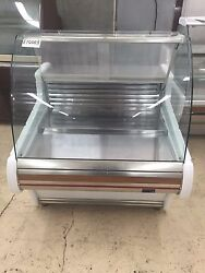 36 Curved Glass Drop In Refrigerated Countertop Display Cabinet V. Polo 1000 Es