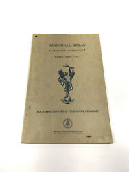 Marshall Texas 1945 Telephone Book Phonebook Directory Free Shipping
