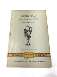 Silsbee Texas 1957 Telephone Book Phonebook Directory Free Shipping