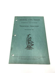 Crystal City Texas 1947 Telephone Book Phonebook Directory Free Shipping