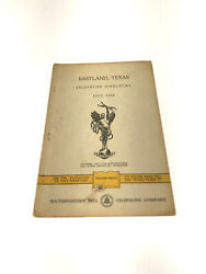 Eastland Texas 1956 Telephone Book Phonebook Directory Free Shipping