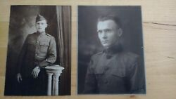 Bachrach Photos Of Wwi Us Army Soldiers Excellent Condition Signed 1918