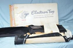 Nos 1959 Ford And Edsel Corsair Convertible Top And Curtain Vintage Black Vinyl 32oz