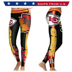 Nfl Kc Chiefs Women's Leggings - Size Small - High Quality