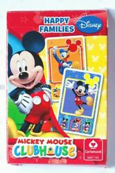 Mickey Mouse Happy Families Family Card Games Classic Disney New Clubhouse